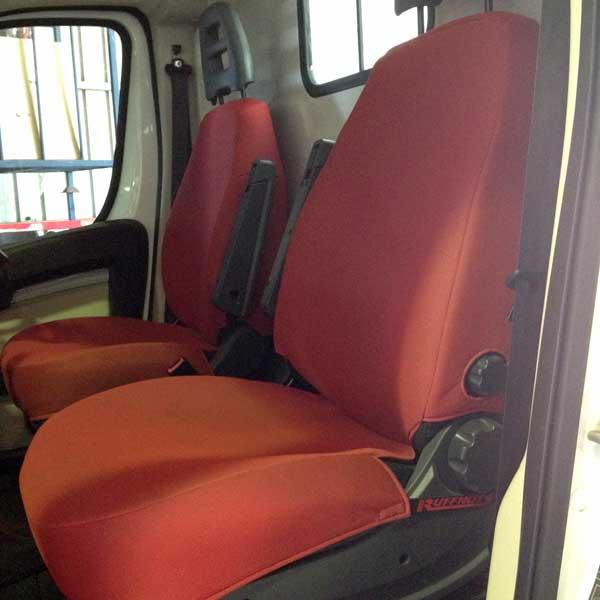 Red Folmatex seat covers