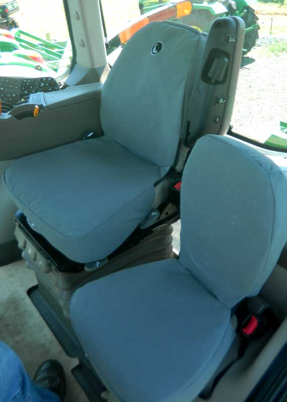 Tuffnuts canvas seat cover for John Deere tractor