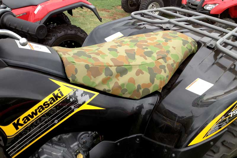 Tuffnuts canvas seat cover for kawasaki quad bike